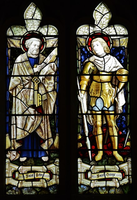 Bishops Cleeve, St. Michael and All Angels Church: Stained glass window 3