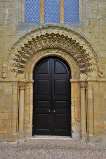 Bishops Cleeve, St. Michael and All Angels Church: Norman west doorway