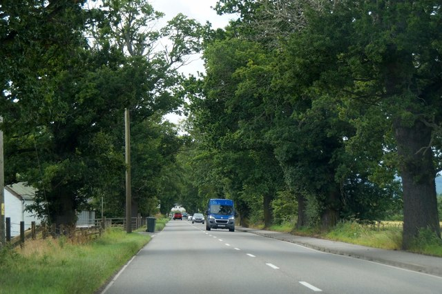 The A862 into Beauly