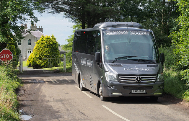 Coach at the 'Dark Hedges' near Armoy