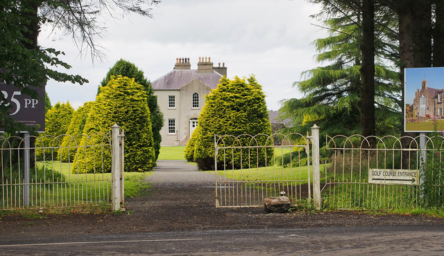Entrance gates, Gracehill House near Armoy