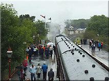 NY6820 : A rainy day at Appleby station by Stephen Craven