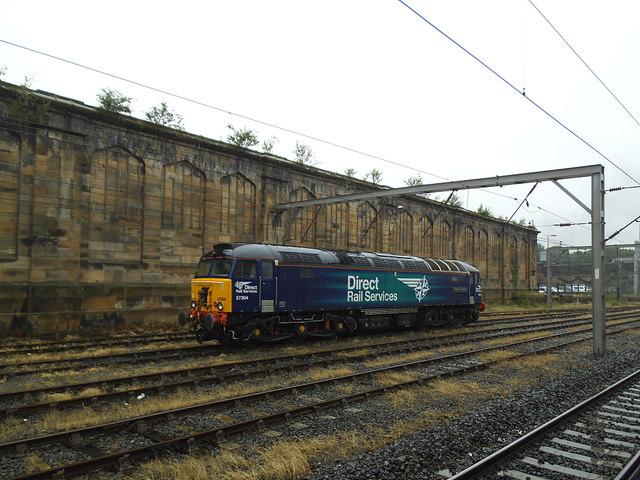 Diesel loco at Carlisle