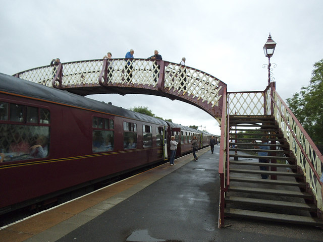 Appleby station footbridge