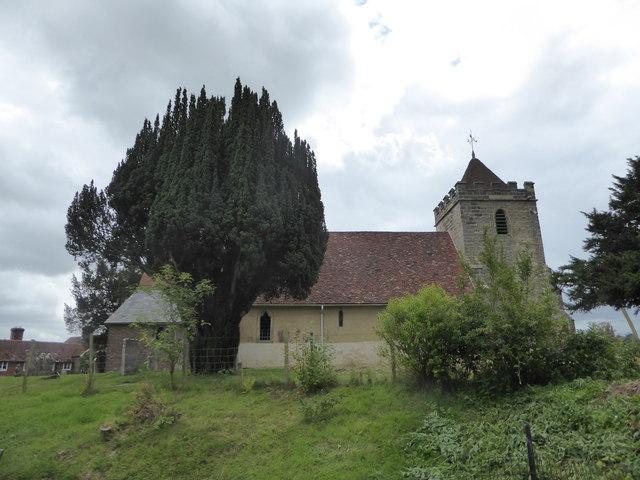 St Thomas à Becket, Capel: late July 2017