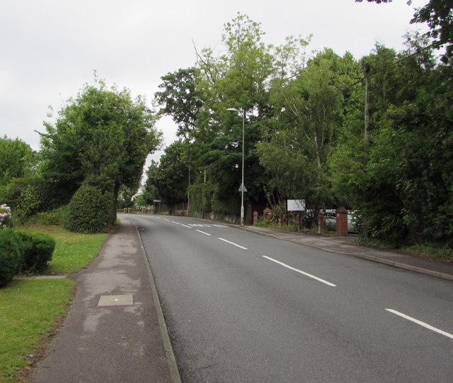 North along Hursley Road, Chandler's Ford