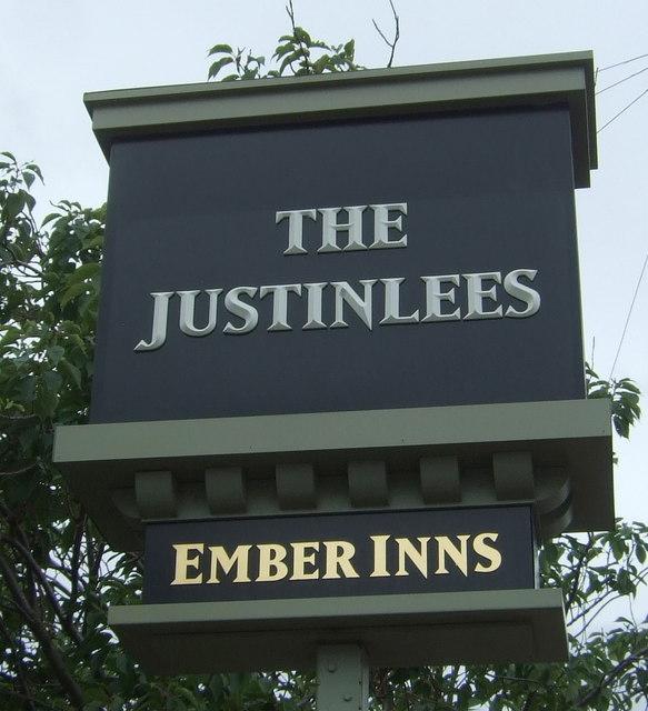 Sign for the Justinlees Inn, Eskbank