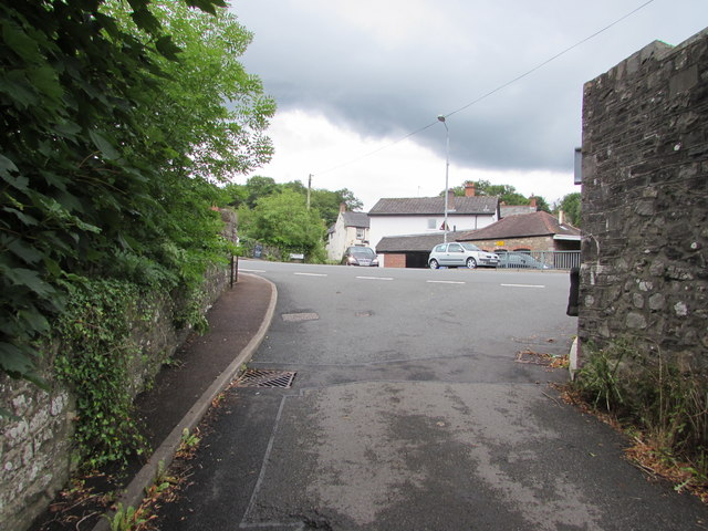 Southern end of Mill Lane, Govilon
