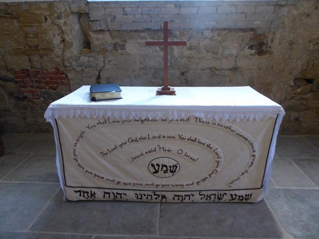 All Saints, Tudeley: altar