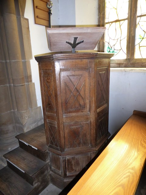 All Saints, Tudeley: pulpit
