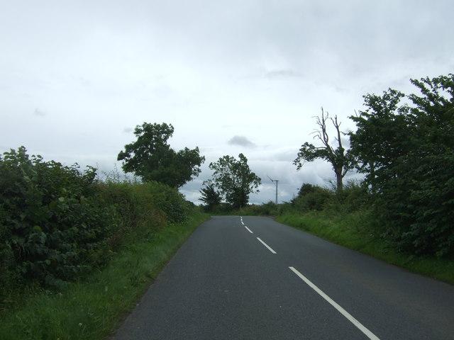 Minor road towards Fordel Dean