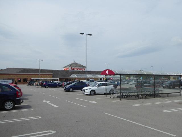 Sainsbury's Car Park at Clwyd Retail park
