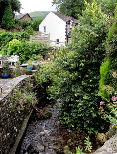 Cwm Shenkin Brook below Mill Lane, Govilon