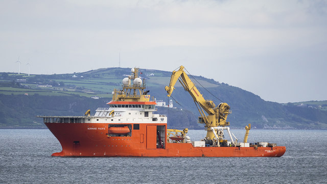 The 'Normand Pacific' off Bangor