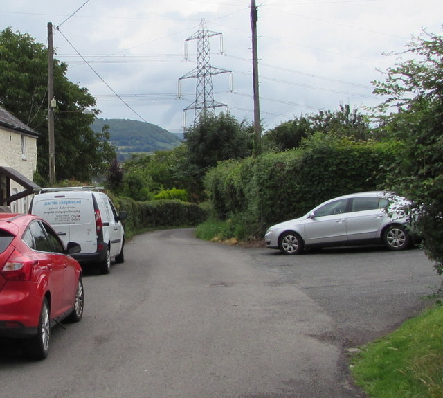 Junction of Mill Lane and Mill Crescent, Govilon