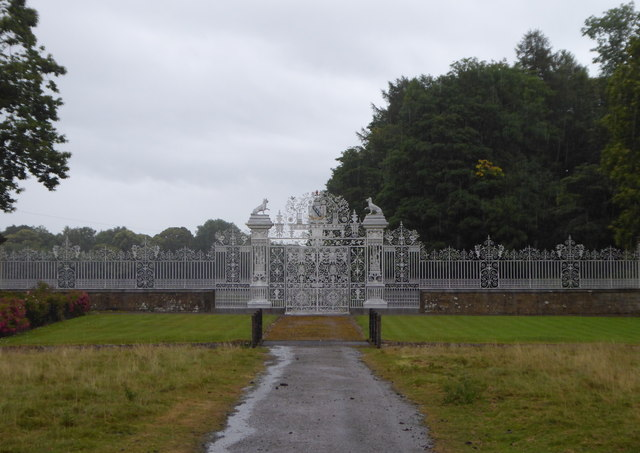 Gates at Chirk Castle