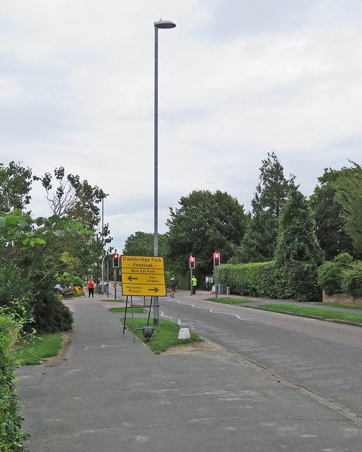 Queen Edith's Way: Folk Festival parking