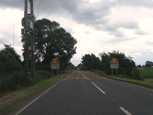 Entrance to Sutton St James