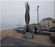 NZ6025 : Sculpture - Esplanade by Betty Longbottom