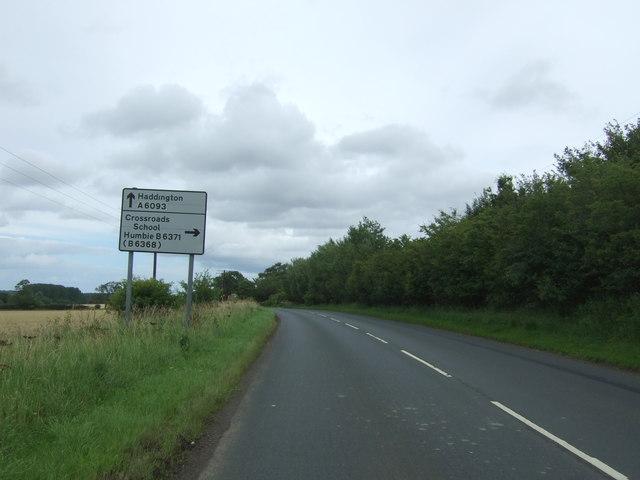 A6093 towards Haddington