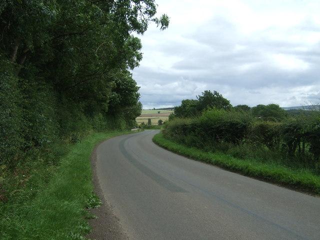 Twisty road near Lempock Wells