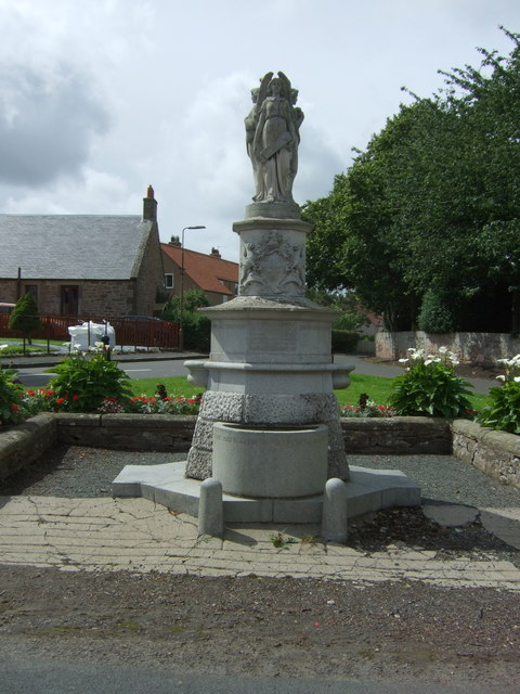 Memorial fountain, East Saltoun