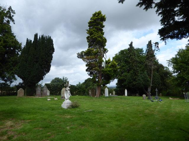 St Thomas à Becket, Capel: churchyard (a)