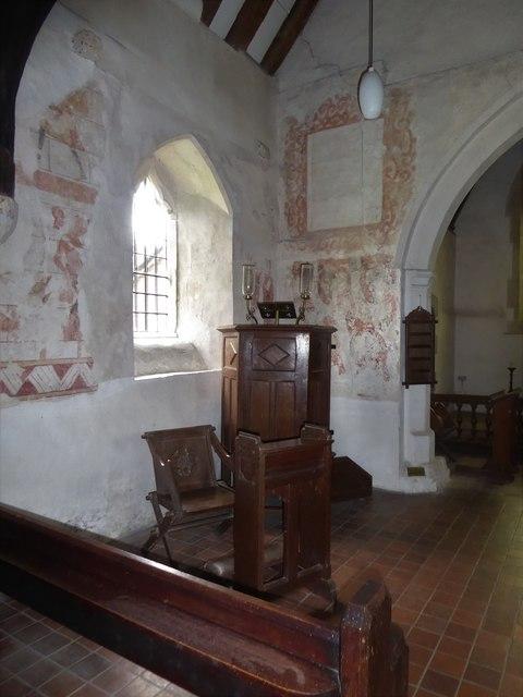Inside St Thomas à Becket, Capel (f)