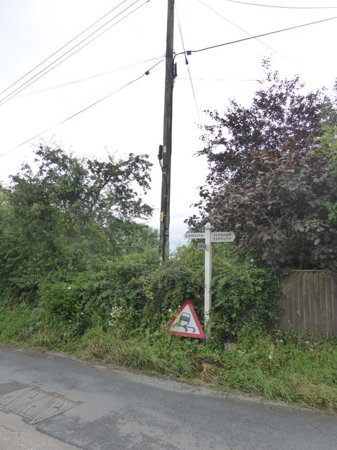 Sign at the junction of Old Rydon Lane and Clyst Road