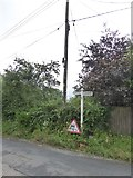 SX9690 : Sign at the junction of Old Rydon Lane and Clyst Road by David Smith