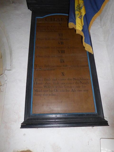 St Thomas à Becket, Capel: the Ten Commandments (b)