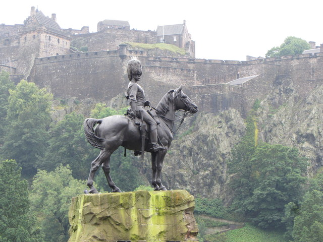 Royal Scots Greys monument in Edinburgh