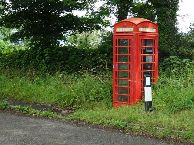Rural telephone box at Turlow Fields