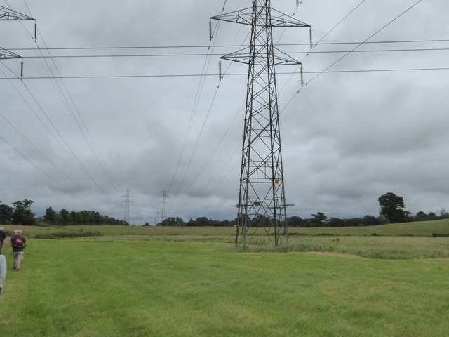 Walking to Sowton under the power lines