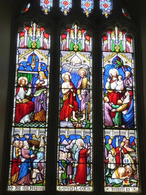 Stained glass window, Sowton church