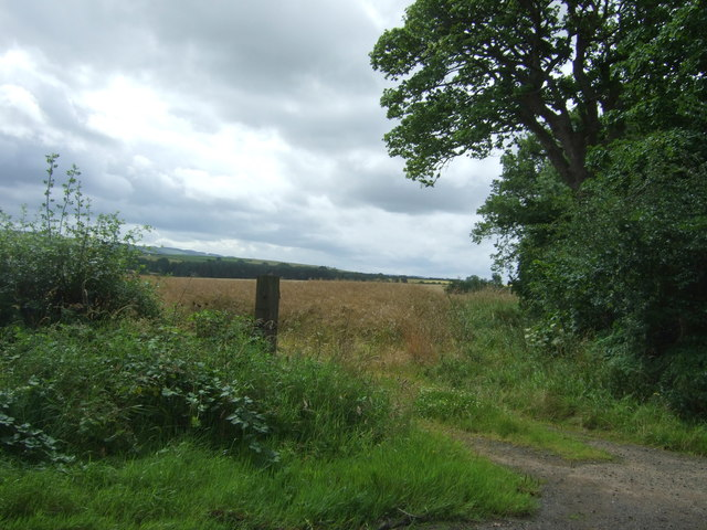 Field entrance off the B6355