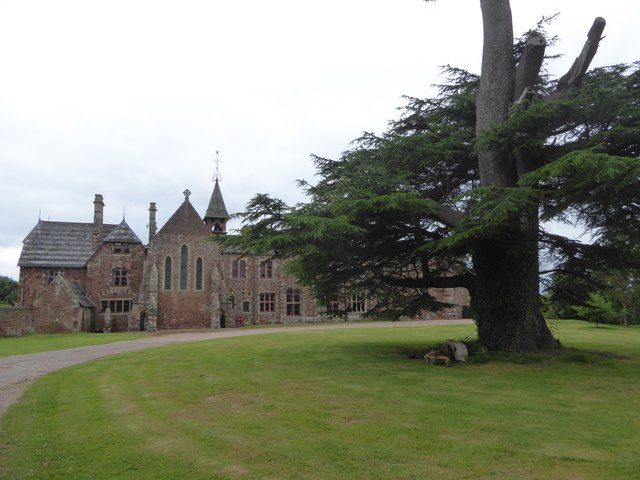East front of Bishop's Court and cedar tree