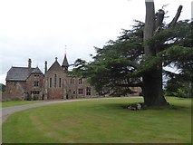 SX9891 : East front of Bishop's Court and cedar tree by David Smith