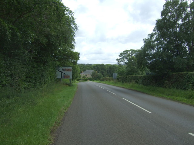 Approaching junction on the B6355 near Gifford