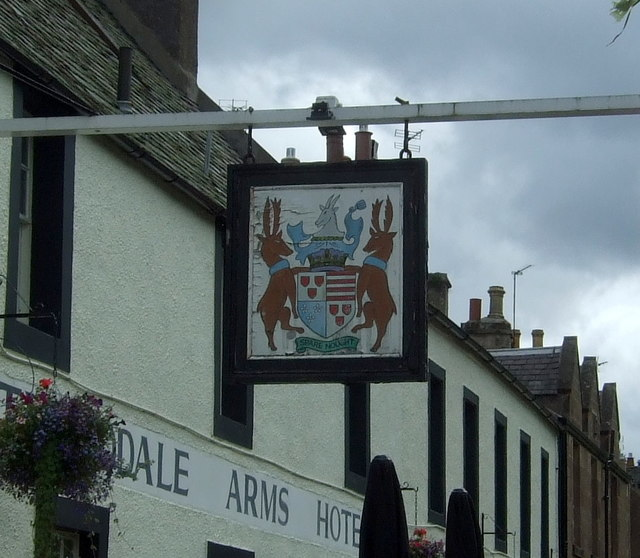 Sign for the Tweeddale Arms Hotel, Gifford