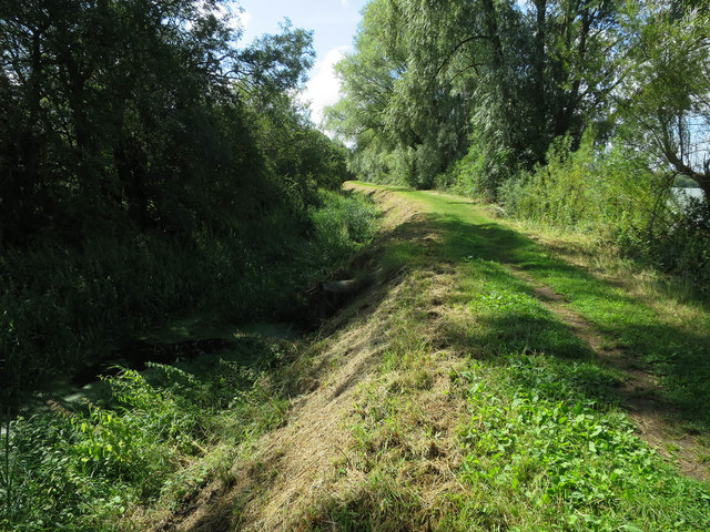 Drain and footpath through Fen Drayton Lakes