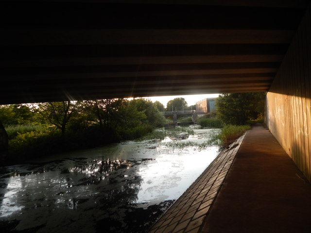 Path and bridge over the A14