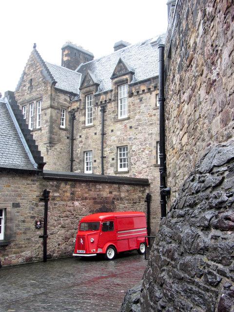 Red van in Edinburgh Castle
