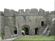 SS6188 : Oystermouth Castle Gatehouse by David Tyers