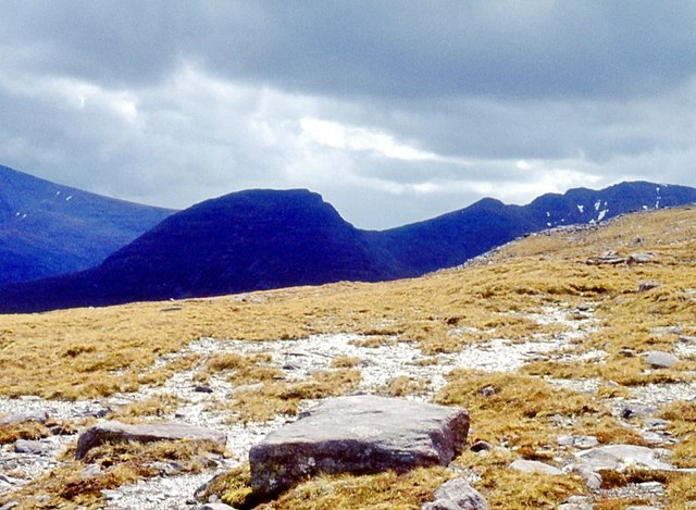 Gently sloping summit of Beinn a' Chearcaill
