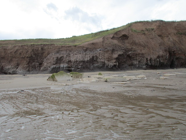 Defences on the beach