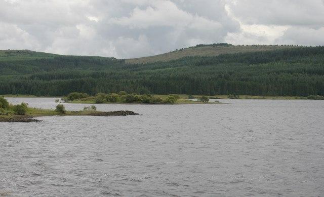 Island in Carron Valley Reservoir