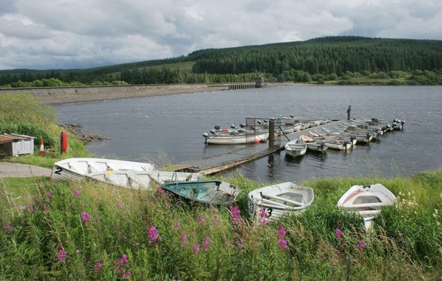 Fishing boats, Carron Valley Reservoir