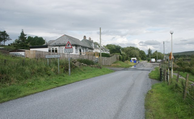 Entering Carron Valley