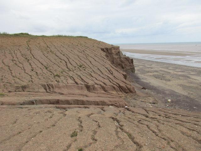 Gap in the cliffs